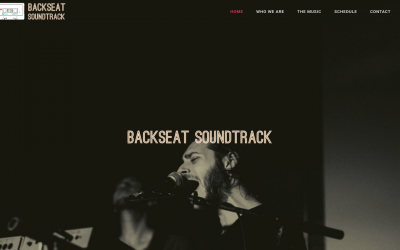 Austin, TX, Band Backseat Soundtrack Launches Website